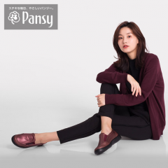 Pansy日本春中老年老人妈妈加肥大码高脚背母拇指外翻鞋女鞋4347