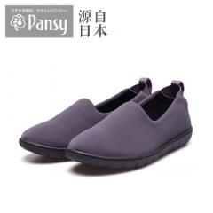 Pansy日本春款布鞋中老年人妈妈鞋平底软底舒适休闲女单鞋2108