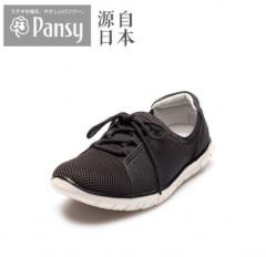 Pansy日本2018新款中老年老人妈妈轻便网面透气防滑休闲鞋女4428