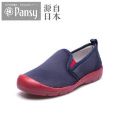 Pansy春秋女舒适休闲鞋拼色中跟平底一脚蹬套脚单鞋3118