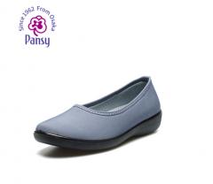 Pansy日本中老年妈妈鞋平底软底浅口透气女鞋单鞋工作鞋2322