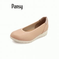 Pansy妈妈鞋2019日本春季新款工鞋休闲浅口舒适软底休闲单鞋子4306