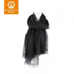 生物质石墨烯蕾丝围巾