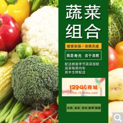 3公斤蔬菜组合(娃娃菜、杏鲍菇、黄瓜、西红柿、尖椒、胡萝卜)