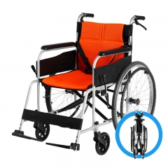 斯维驰轮椅折叠轻便小型多功能老年人残疾人便捷超轻手推代步车