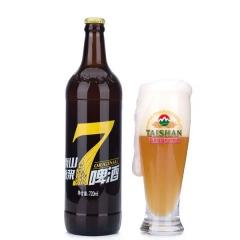 泰山原浆啤酒 七日鲜 12瓶/箱,6瓶/箱 720毫升每瓶 6瓶