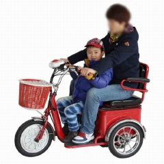 中老年电动三轮代步车 多功能迷你型可进电梯双座轻便电瓶助力车 不含电瓶