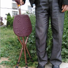 多用可调T型把折叠高档出口拐杖凳 加重耐用老人两用手杖正品热卖